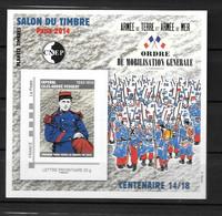 2014- 66**MNH - Salon Du Timbre à Paris - Mobilisation Générale - CNEP