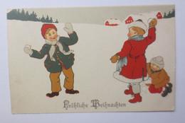 Weihnachten, Kinder, Mode, Schneeballschlacht, 1906 ♥ (50518) - Ohne Zuordnung