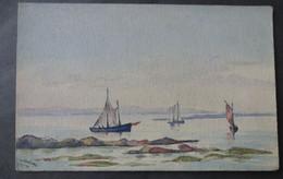 CPA 29 LOT DE 5 AQUARELLES Originales Sur Cartes Précurseurs - Barques De Pêche Du Sud Finistère - Réf. D 283 - Zonder Classificatie