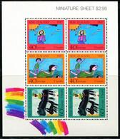 XG0912 New Zealand 1987 Child Welfare Children's Painting  Sheet - Unused Stamps