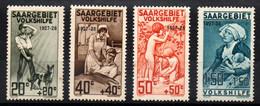 SARRE - YT N° 121 à 124 - Neufs * - Cote: 80,00 € - Ongebruikt