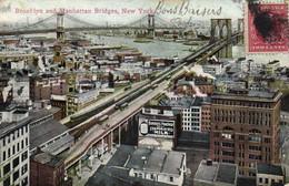 Brooklyn And Manhatan Bridges New York  + Timbre RV - Ponti E Gallerie