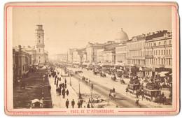 Fotografie A. Felisch, St. Petersbourg, Ansicht St. Petersburg, Pfedebahnen Am Newski-Prospect - Luoghi
