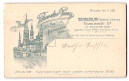 Fotografie Theodor Penz, Berlin-Charlottenburg, Tauenzienstr. 13a, Ansicht Berlin-Charlottenburg, Gedächtniskirche - Luoghi