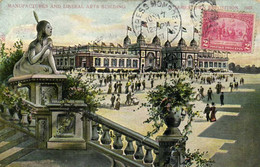 JAMESTOWN EXPOSITION  1907 MANUFACTURES AND LIBERAL ARTS BUILDING   + Beau Timbre Cachet Fortress Monroe RV - Altri