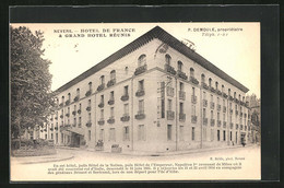 CPA Nevers, Hotel De France & Grand Hotel Réunis - Nevers