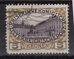 AUSTRIA 116 (0)   HOFBURG (Vienna) (1908-13) - Usados
