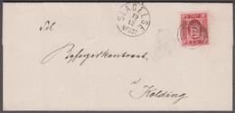 1871. DANMARK. Tjeneste. 4 SK.  Cancelled SLAGELSE 19 12 4POST To Kolding. Sender Can... (Michel Di 2A) - JF421551 - Dienstzegels