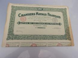CHANTIERS NAVALS FRANCAIS (100 Francs) - Non Classificati
