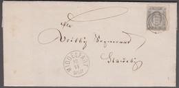 1871. DANMARK. Tjeneste. 2 Skilling (small Corner Fold) On Cover From VENDS HERRED An... (Michel D1A) - JF421561 - Dienstzegels