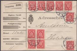 1913. DANMARK TJENESTE. 10 Øre Red. Perf. 12 3/4, Wm. New Crown. 11 Ex 10 øre On Adre... (Michel D10A) - JF421562 - Dienstzegels