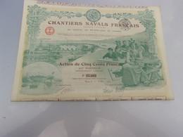 CHANTIERS NAVALS FRANCAIS (500 Francs) 1918 - Non Classificati