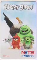 Singapore Cash Card Transport Card Used Cashcard Angry Birds - Mondo