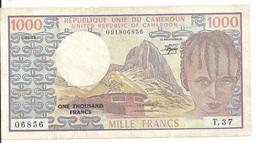 CAMEROUN 1000 FRANCS 1983 VF P 16 D - Cameroon