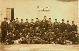 "CPA Zouaves à L'exercice ""la Carrée"" (ca 4023) - War 1914-18"