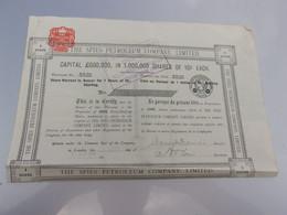 THE SPIES PETROLEUM COMPANY (1 Action) 1909 - Non Classificati