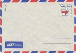 Poland Envelope Ck 65: Par Avion - Postwaardestukken