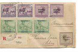 1286PR/ Ruanda-Urundi Lettre Recommandée Kigali 1929 > Rukira - 1924-44: Briefe U. Dokumente
