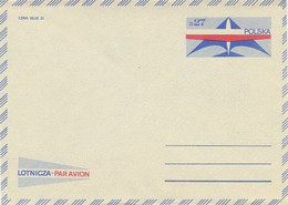 Poland Envelope Ck 70: Par Avion - Postwaardestukken