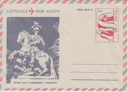 Poland Envelope Ck 72: Par Avion Jan III Sobieski Minument - Postwaardestukken