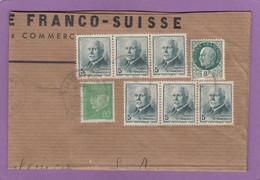 FRAGMENT DE LETTRE AVEC E.A. 2 BANDES DE 3 DU NO 524. - Covers & Documents