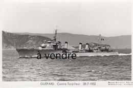 GUÉPARD  Contre-Torpilleur  28-7-1932 - Warships