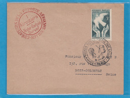 PREMIER SERVICE POSTAL PAR AVION,PARIS 22 SEPT. 1946. 1 AEROSTIERS, NADAR-DARTOIS DURUOF,CREATEURS DE LA 1ERE POSTE AERI - Lettres & Documents