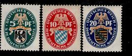 Deutsches Reich 375 - 377 Nothilfe Landeswappen  MLH * Falz (2) - Ongebruikt