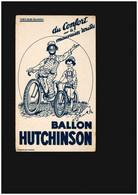 Buvard - Vélo Bicyclette Ballon Hutchinson Pneus Moto - Unclassified