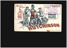 Buvard - Chatou 42 Av Du Maréchal Foch Station Terrot Armes Munitions Vélo Bicyclette Ballon Hutchinson Pneus Moto - Unclassified