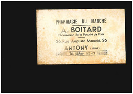 Buvard - Antony Pharmacie Santé Médecine 26 Rue Auguste Mounié - Non Classificati
