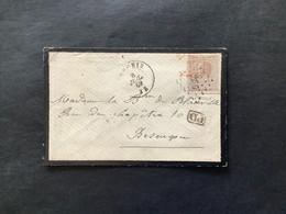 OBP 19 Op Briefomslag LP 266 NECHIN - Besancon / FRANCE PAR TOURNAY - 1865-1866 Profile Left