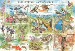 2013 Czech Flora Fauna Birds Snakes Butterflies Souvenir Sheet  MNH - Blocchi & Foglietti
