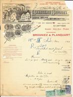 LA LOUVIÈRE   - Brasserie Brogniez -   ( Bières Brunes Et Grisette )  - 1923 - Alimentare