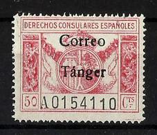 TANGER **142 Nuevo Sin Charnela. Cat.54 € - Spanisch-Marokko
