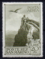 1944 San Marino - Pro Case Popolari Aerea N. A48 Nuovo MLH* - Luchtpost