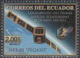 2013 Ecuador Satellite Space Communications Complete Set Of 1 MNH - Ecuador