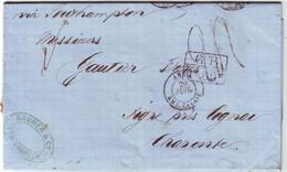 Lettre De PORTO CABELLO VENEZUELA 1872 Pour La France , TAXE 24 TAMPON Marque D'echange GB 1Fr 60 ( 2 Eme Echelon )  TTB - 1849-1876: Période Classique
