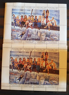 TUVA CELEBRITY 2 SHEETS PERFORED MNH - Actores