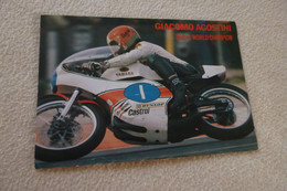 RE-BELLE CARTE ......GIACOMO AGOSTINI...CHAMPION DU MONDE..YAMAHA - Motorcycle Sport