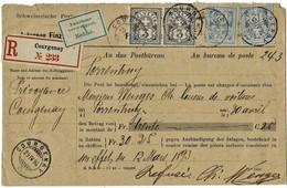 1894, Mandat-Kouvert, Selt. Frankatur! ( Fr. 230.- +),  A5068 - Briefe U. Dokumente