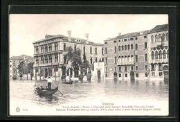 Cartolina Venezia, Gondelfahrt Auf Dem Canale Grande Am Palazzo Marcello - Venezia