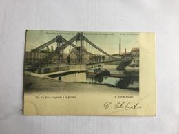LIEGE  EXPOSITITION UNIVERSELLE ET INTERNATIONALE DE LIEGE 1905    93.  LE PONT SUSPENDU A LA BOVERIE - Liège
