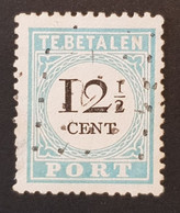Pays-Bas - Nederland, Timbre(s) Y&T Taxes 8 Type 3 (O) - 2 Scan(s) - TB - 371 - Strafportzegels