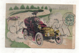 La Roche-sur-Yon (85) : GP D'ne Voiture Conduite Par Une Femme Après Accident En 1906 (animé) PF. - La Roche Sur Yon