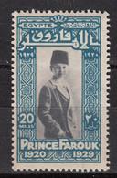 EGYPTE : 139 * MH – Prince FAROUK 1929 - Nuovi