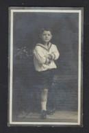 DOODSPRENTJE * WILLY VAN DER STRICHT * GENT 1906 - 1916 * KIND * 10 JAAR * MET FOTO * 2 SCANS * DRUK VAN MELLE - Santini