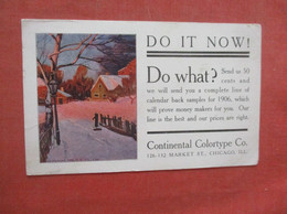 DO IT NOW !   Continental Colortype Chicago Il.   Ref  4998 - Advertising