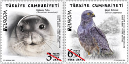 Türkei  MNH ** 2021  Europa 2021 - Endangered National Wildlife Set M - 2020