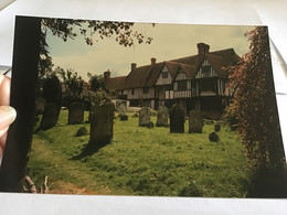 Photo Couleur 1995  Angleterre Royaume Unis Maison Cimetière - Luoghi